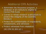 additional ori activities