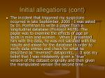 initial allegations cont