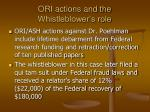ori actions and the whistleblower s role