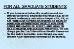 for all graduate students