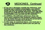 medicines continued