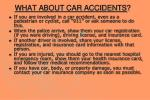 what about car accidents