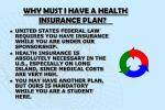 why must i have a health insurance plan