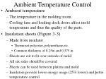 ambient temperature control