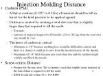 injection molding distance1