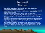 section 42 the law