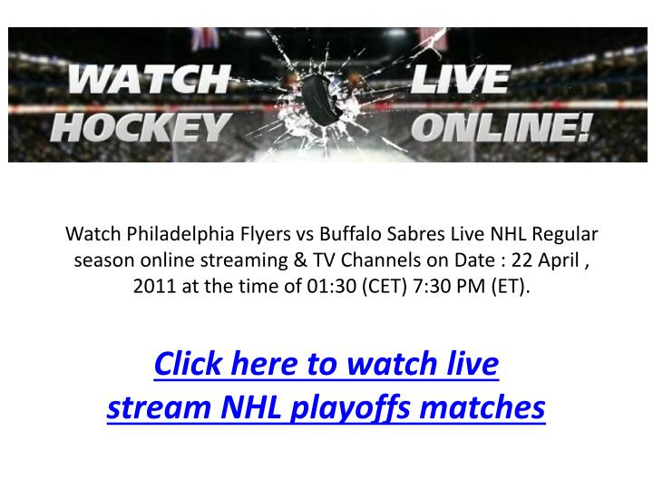 Click here to watch live stream nhl playoffs matches