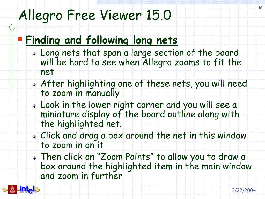PPT - Allegro Free Viewer 15 0 PowerPoint Presentation - ID:1187644
