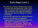 data gaps cont