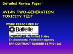 detailed review paper avian two generation toxicity test