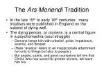 the ars moriendi tradition