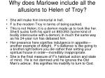 why does marlowe include all the allusions to helen of troy