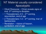 nt material usually considered apocalyptic