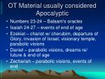 ot material usually considered apocalyptic