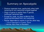 summary on apocalyptic