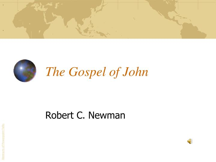 the gospel of john n.