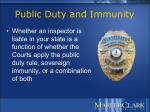 public duty and immunity