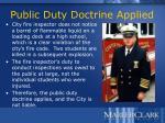 public duty doctrine applied
