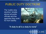 public duty doctrine