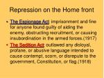 repression on the home front