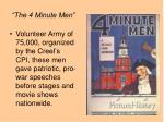 the 4 minute men
