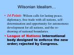 wilsonian idealism
