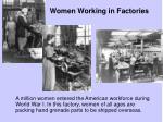 women working in factories