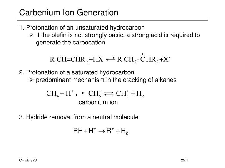 carbenium ion generation n.