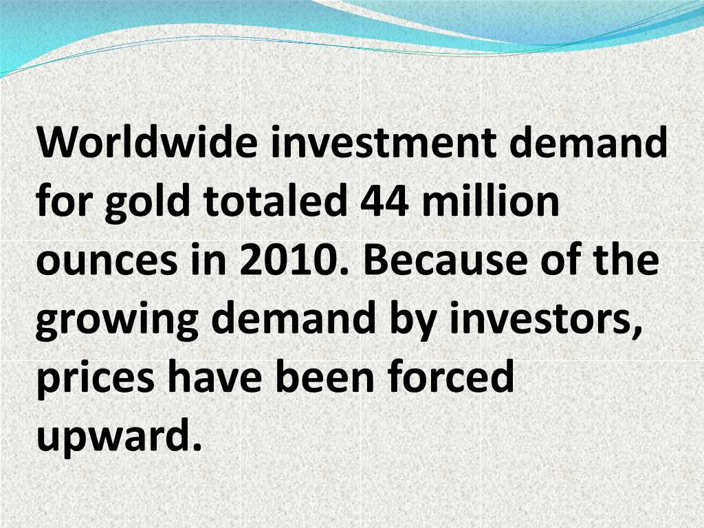 Worldwide investment