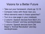 visions for a better future