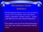 elizabethan drama audience