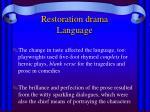 restoration drama language