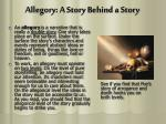 allegory a story behind a story