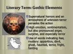 literary term gothic elements