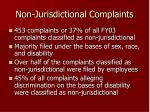 non jurisdictional complaints