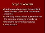 scope of analysis2