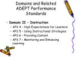 domains and related adept performance standards