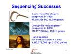 sequencing successes1