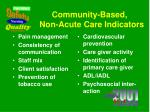 community based non acute care indicators1
