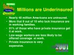 millions are underinsured