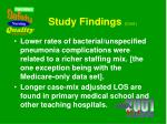 study findings cont1