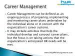 career management5