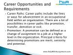 career opportunities and requirements13