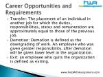career opportunities and requirements14