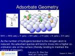 adsorbate geometry