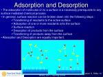 adsorption and desorption