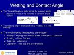 wetting and contact angle
