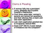 claims pleading