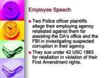 employee speech