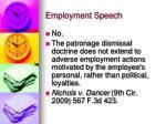 employment speech